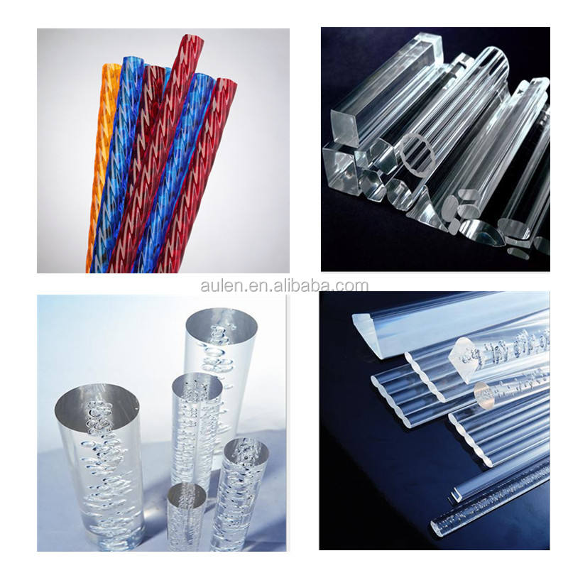 Plastic threaded acrylic rods