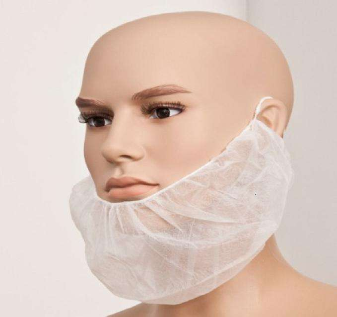 Disposable beard cover non-woven beard cover white/blue beard cover
