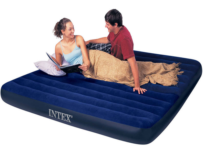 Intex 68757 Double design air bed inflatable air mattress with built-in pump