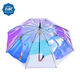 New product 23 inch clear fashion ladies transparent pvc glitter colorful umbrella