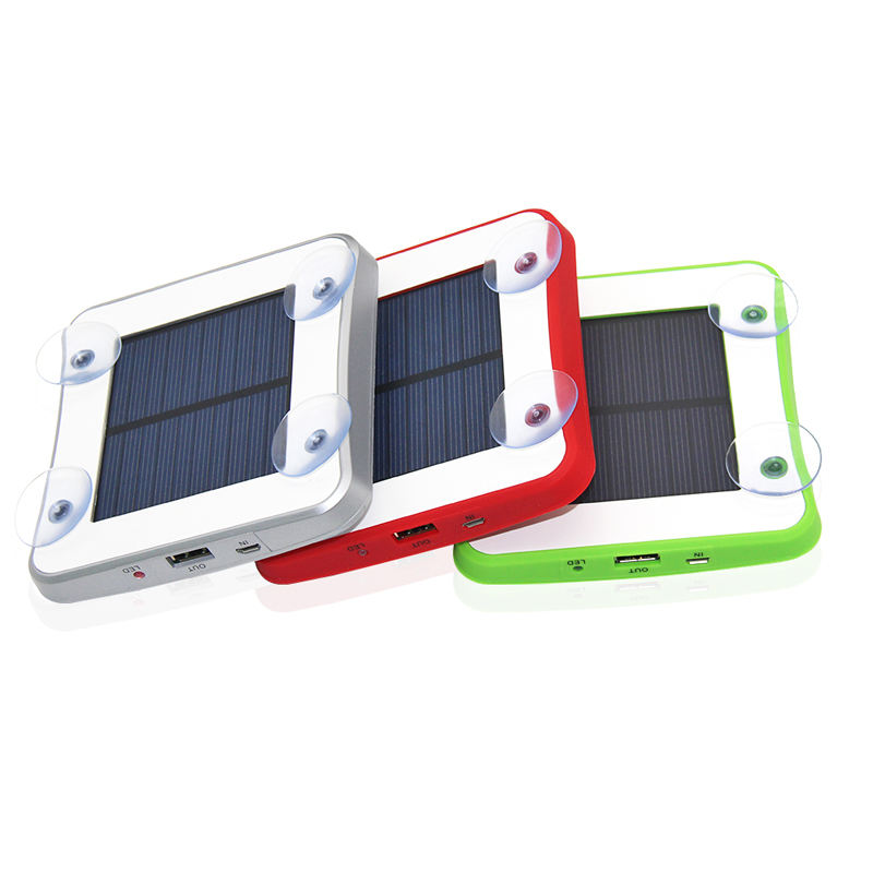 100% Original Self-Patent 2600mah 5V 1A Window Solar Charger, Portable Solar Charger Power Bank with Sucker