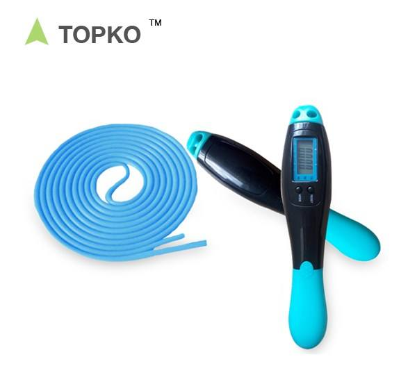 TOPKO Adjustable Skipping Ropes with Calorie and Jump Counter Digital Jump Rope