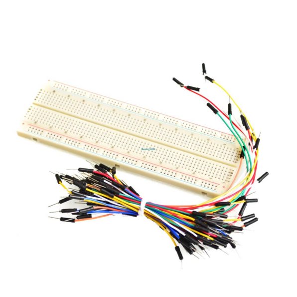 MB102 830 Tie <span class=keywords><strong>Điểm</strong></span> Solderless PCB <span class=keywords><strong>Breadboard</strong></span> MB-102 + 65PCS Jumper Cable + Power