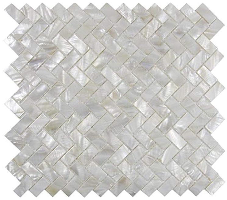 Soulscrafts Seamless Super White Mother of Pearl Square Mosaic Tile Sheets Kitchen backsplash Pack of 10