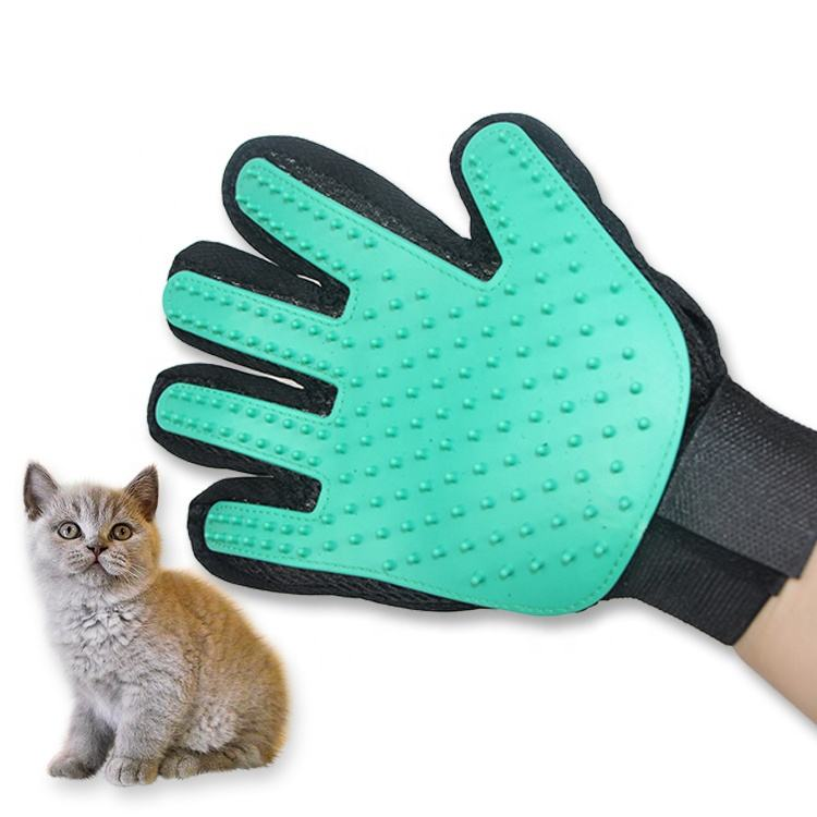 Five Finger Cleaning Silicone Pet Glove for Dogs and Cats Pet Grooming Glove