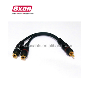 Bxon 20 cm Audio Video kabel RCA y-splitter 1 stecker auf 2 weiblichen kabel