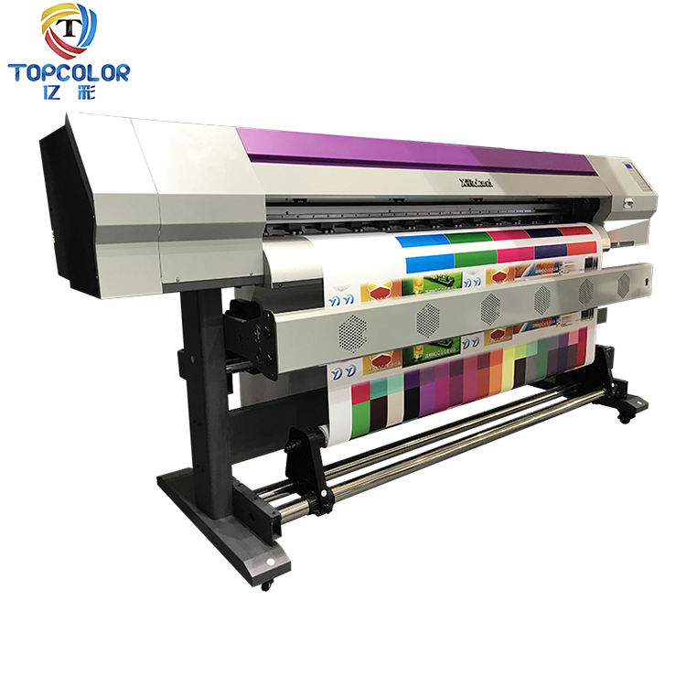 Muliti color commercial pictures printing machines 1.68m 1.8m used banner digital printing machines in japan