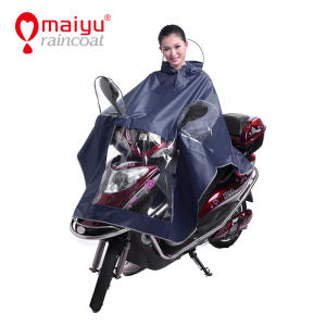 Maiyu best selling long polyester raincoat for Motorbike