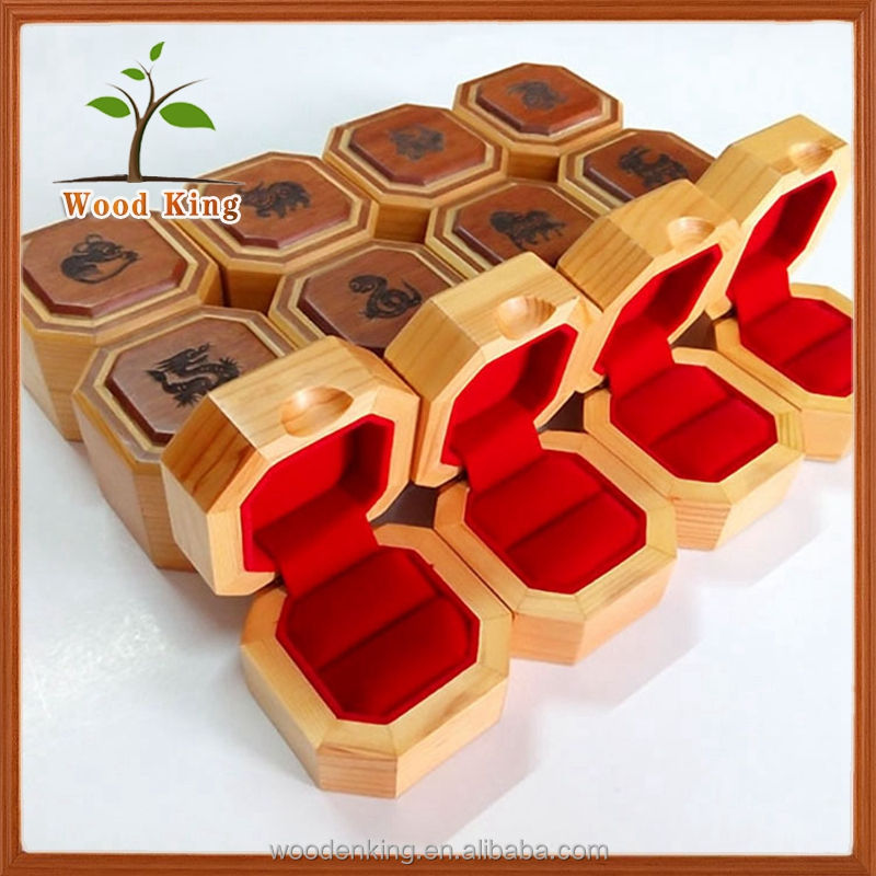 Manufacturer Of Custom Oak Gift Box 12 Chinese Zodiac Logo Jewelry Box Wooden