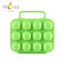 Morezhome hot selling Egg Storage Box Container Portable Carry 12 Eggs Case Holder Hiking Outdoor