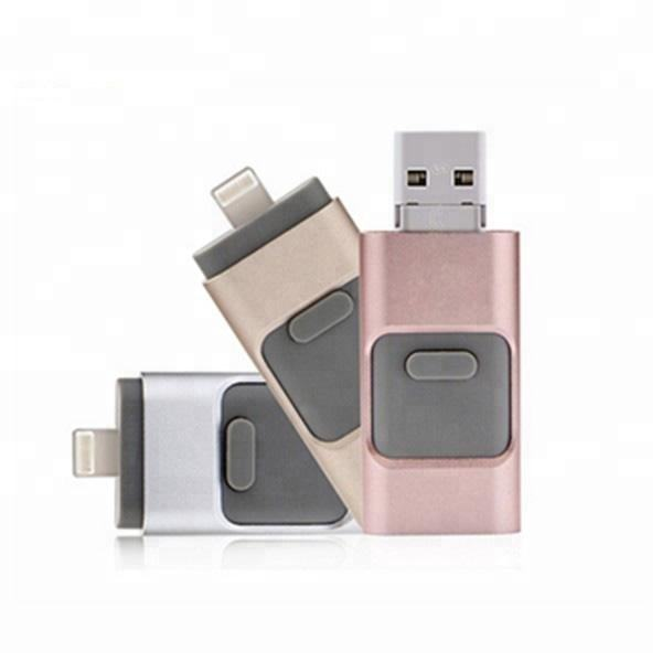 3 em 1 OTG USB 3.0 Flash Drive Memory Stick Venda Quente do Metal Do Telefone Móvel OTG USB Flash Drive