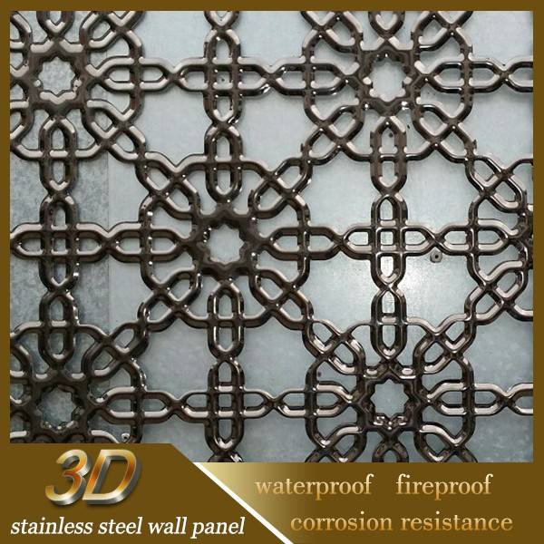 الفولاذ المقاوم للصدأ لوحة الجدار الديكور الحديثة لفي الهواء الطلق