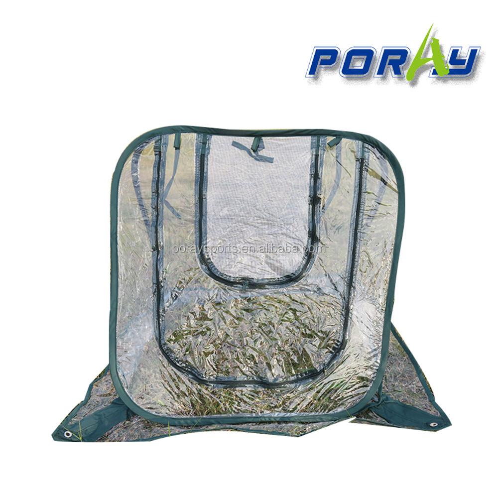 Poray Mini Grow Room Grow Tent Flower Pot Cover Transparent