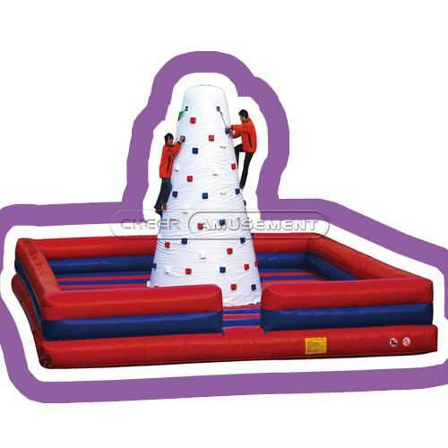Cheer Amusement commercial Interactive Product Durable Inflatable Climbing Wall