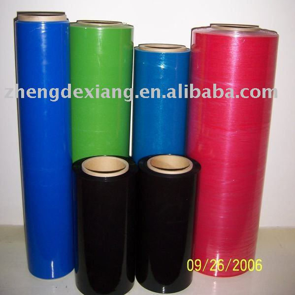 Japan LLDPE hot blue stretch film/ colored stretch film