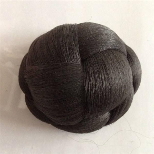 черный синтетических волос булочка создатель