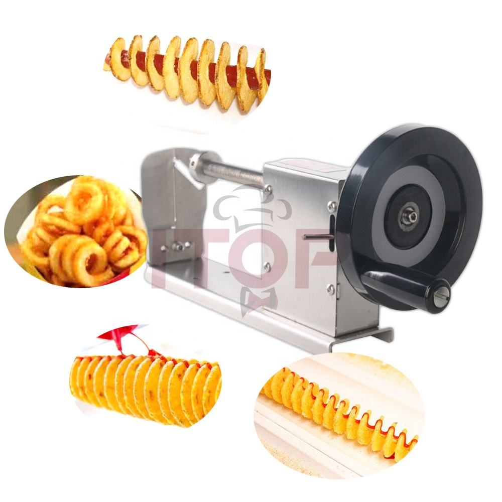 potato twister manual tower carrot potato spiral potato chips cutting machine