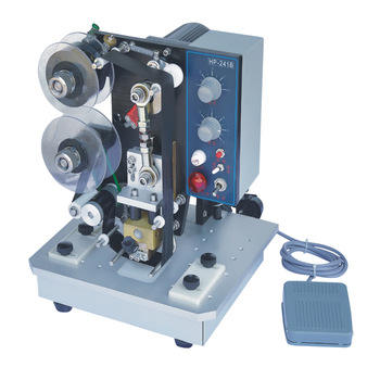 electric semi-automatic Date Coding Machine, hot stamping date coding machine