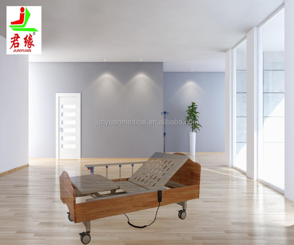 Eletric 2 function wooden hospital bed