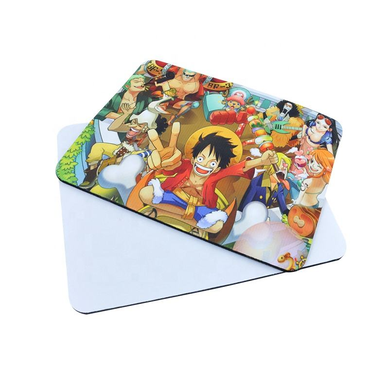 Customized Pattern Sublimation Printing Rectangle Blank Mouse Pad