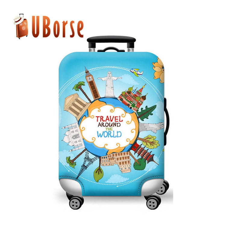 Beautiful custom protective cover elastic waterproof spandex luggage cover