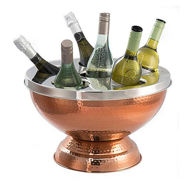 Wholesale Hammered Effect Copper Plated 6 Bottle Wine Cooler