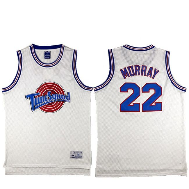 Dropshipping Custom Space Jam Tune Squad #22 Murray Retro Basketball Jersey