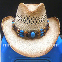 Sun women men straw cowboy hat MH-0379