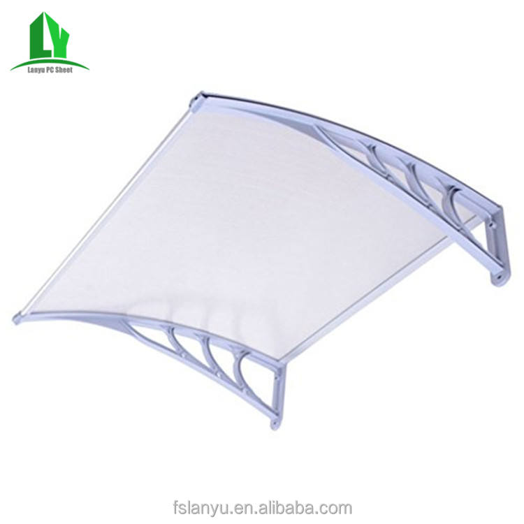 Diy Awnings Window Canopy Door Canopy / Polycarbonate Awning / Pc Aluminum Alloy PC Coated Manual Rain Shelter Customized 2.7mm