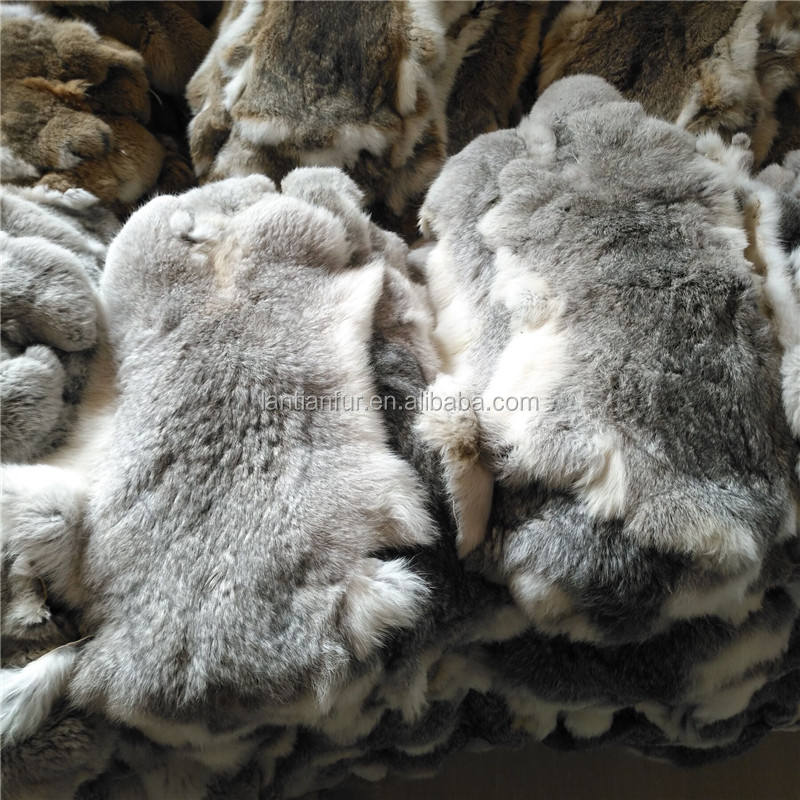 Factory wholesale tanned large rabbit fur skin