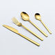 wedding gold cutlery set spoons forks knives stainless steel gold flatware set gold silverware