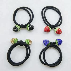 Accesorios bola de cristal cuerda elástico del pelo para las mujeres cristal cuerda pelo Lazo de la muchacha
