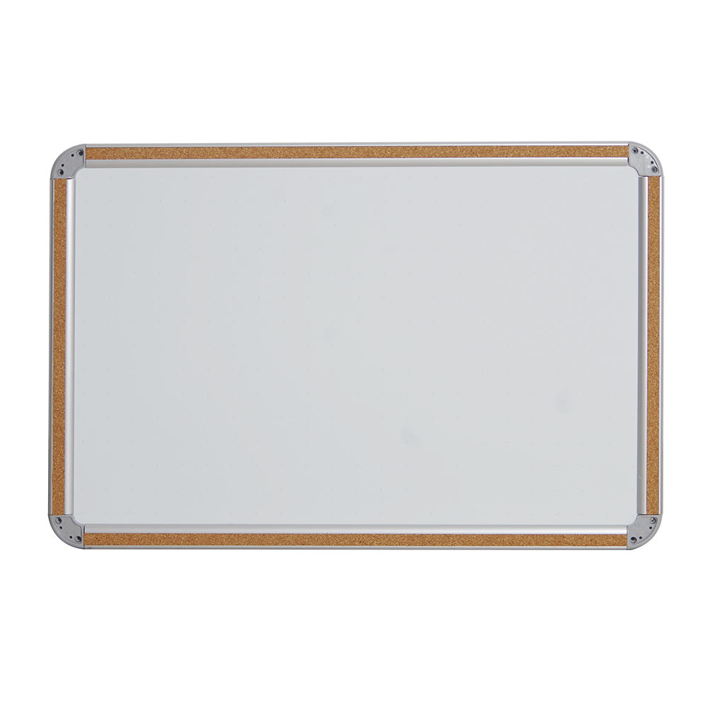Magnetic Bulletin Memo Dry erase Cork Whiteboard in Aluminum Frame