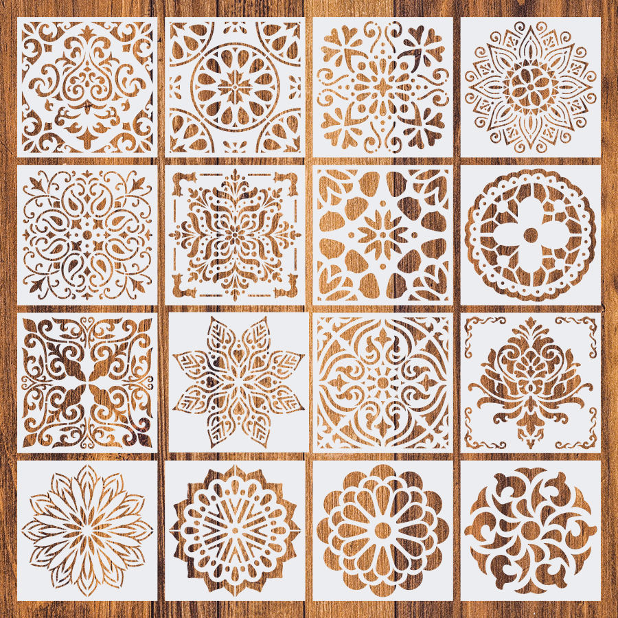 Mandala Painting Stencils Reusable Stencil Laser Cut Painting Template Floor Wall Tile Fabric Furniture Stencils