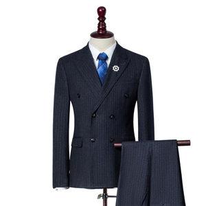 Adult size anti-shrink man business suit wedding suits for men black blue grey man suit