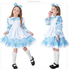 Halloween Costumes For Kids Alice In Wonderland Costume Girls Alice In Wonderland Dress Lolita Princess Lolita Clothing XQ1287
