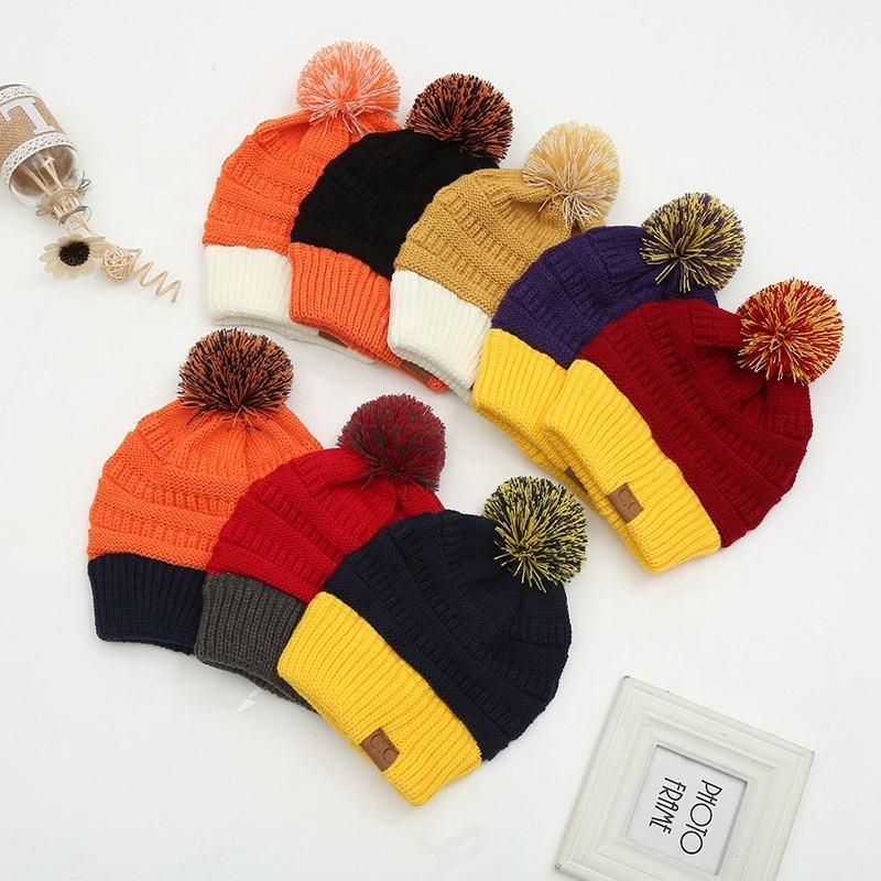 2020 New Products Promotional Top Quality Wholesale Autumn And Winter Soft Beanie Warm Hat Custom Knit Hat With Leather Logo