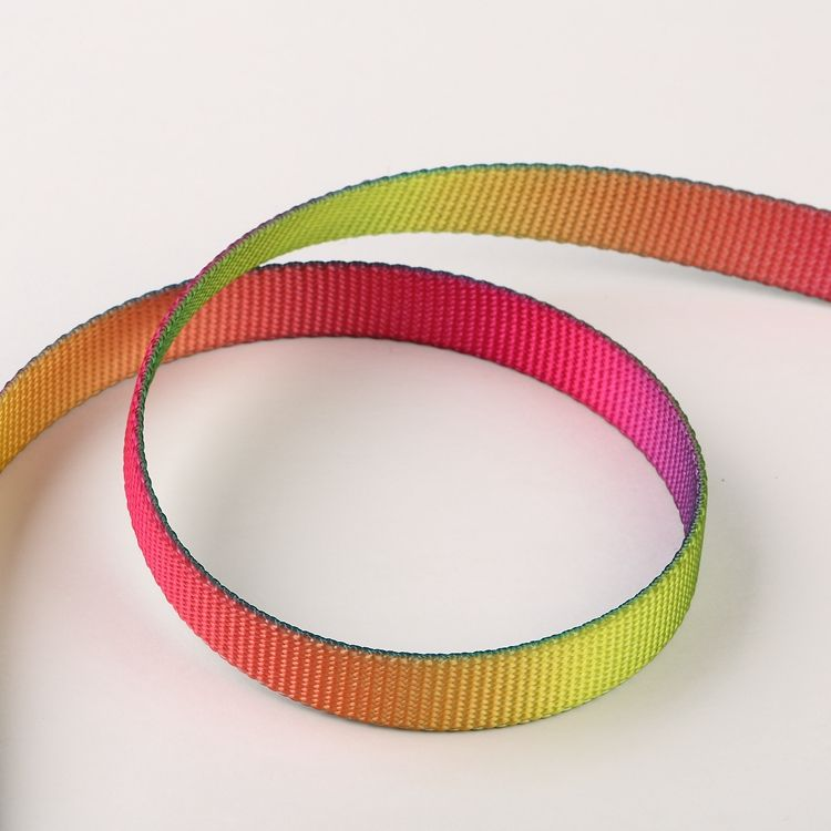 2 inches printed rainbow polyester nylon webbing belt strap