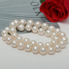 Wholesale price high quality cultured round natural pearl white color 12-13mm freshwater pearl strands for jewelry making