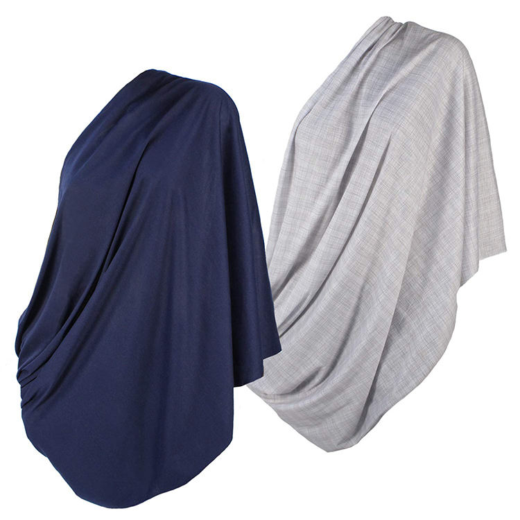 Lactation scarf super soft high quality knitted polyester fiber - 100% azo free and safe for infants (light grey pattern)