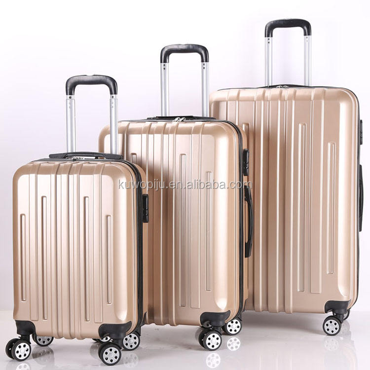 Чемодан Swiss Case TSA lock 4 Wheel Spinner ABS PC 3 шт., набор чемоданов GOLDEN Hardside