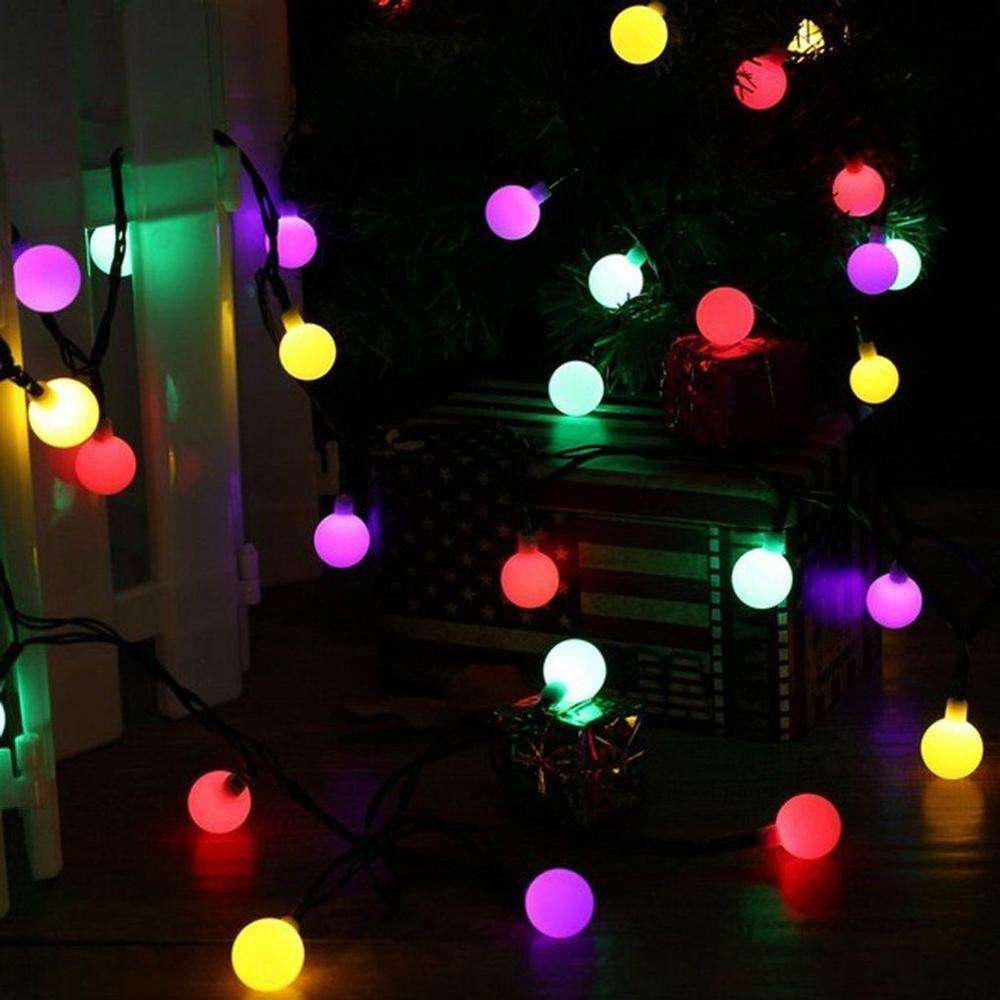 China Multicolor 100LED String Light 10M Ball String with 8modes Controller for Christmas Xmas Party