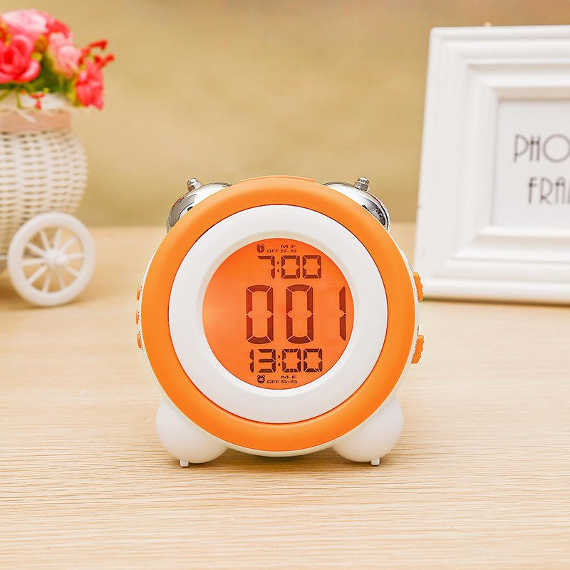 Metal ringing loud LED electronic alarm clock Creative personality multi-function table led digital alarm clock alarm clock.