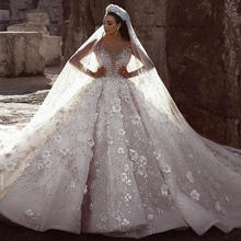 Luxury Crystal Wedding Dresses Turkey Istanbul Guangzhou Manufacturer Long Tail Ball Gown Wedding Dress For Women