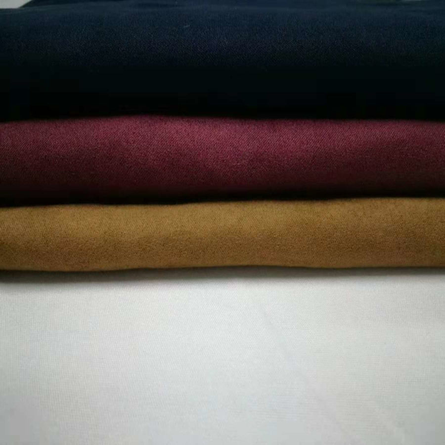 Wujiang100%polyester Jacket shoes fabric soft and comfortable fabric poly satin suede fabric