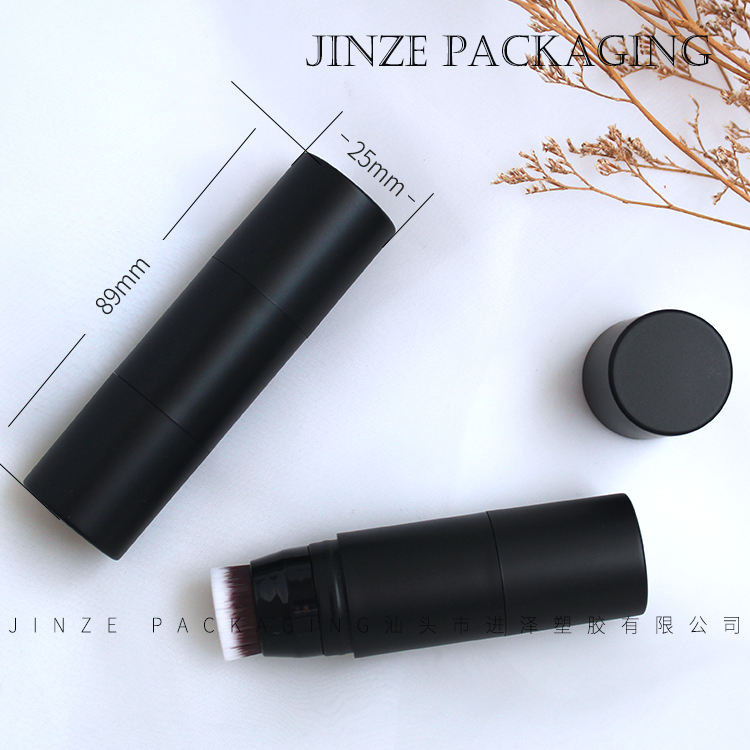 Jinze Empty Foundation Stick Container With Brush Dual Blush Tube Hairline Retouch Powder Tubes 7g
