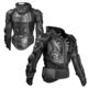 GHOST RACING high quality breathable motorcycle armor body protective jacket racing ski clothing in black