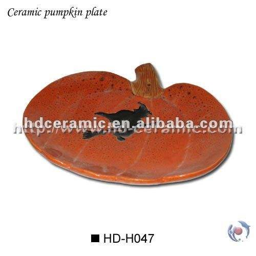2019 latest ceramic Pumpkin Plate