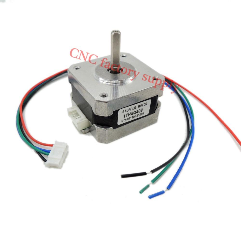 1 PCS 17HS2408 4-lead Nema 17 Stepper Motor 42 motor 42BYGH 0.6A CECNC Laser and 3D printer