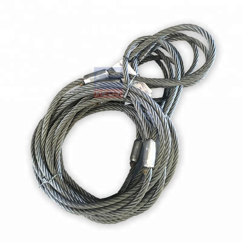 Both Ends With Soft Eye Machine Swaged Pressed Galvanized Steel Wire Rope Sling